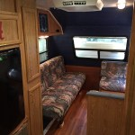 Renovated camper interior walls