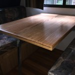 Renovated camper interior table