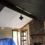 Weave Wood Ceiling Before