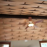Weave Wood Ceiling After