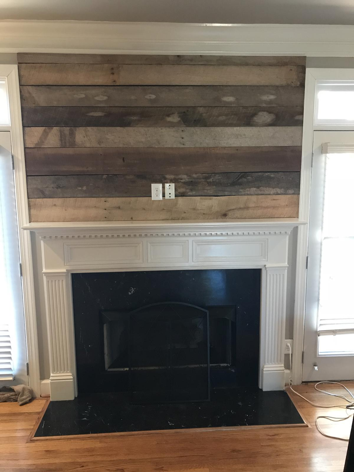Covering Up An Older Tv Hole With Barnwood And Surfacing