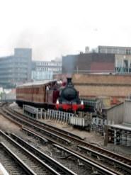 Steam train approaching Ravenscourt Park, June 23rd 2019