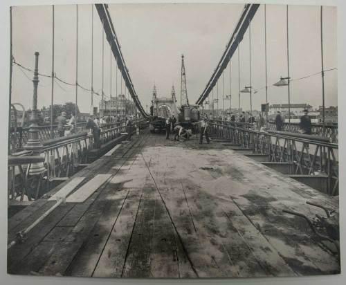 Hammersmith Bridge Construction