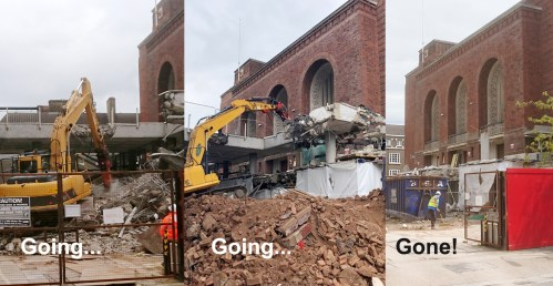 Town Hall extension demolition