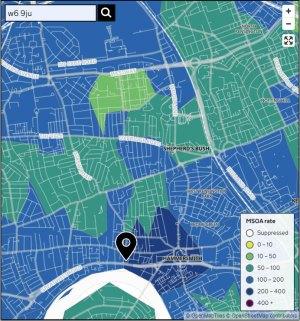 Covid-19 map, 2020-10-14