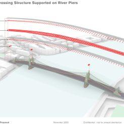 Temporary bridge - span detail