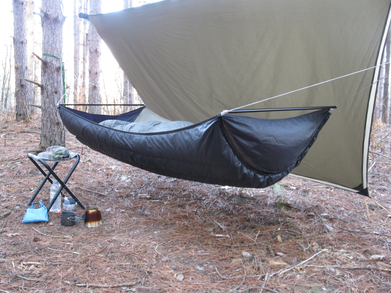 Homemade Bridge With Integrated Underquilt