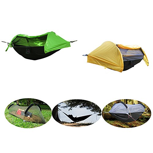 crehouse camping hammock tent with mosquito   and rainfly rain cover waterproof shelter portable for backpacking patent camping hammock with mosquito   and rainfly cover      rh   hammocktentshop