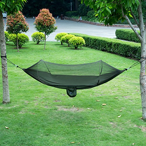 isyoung hammock with mosquito   parachute fabric hammock   durable and portable  suit for 2 persons tree tent outdoors  black   army green  hammock tent shop   fun  u0026  fortable hammock tents  rh   hammocktentshop