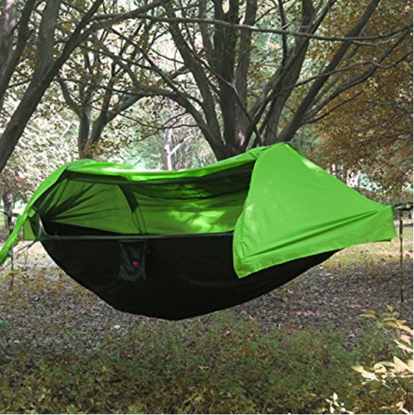HongXingHai 3 in 1 Hammock with Mosquito Net and Rain Fly Outdoor Lightweight Backpack Tents Hammocks with Bugs Net for Camping