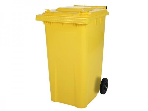 poubelle jaune pour les papiers