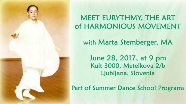 Eurythmy Presentaiton at Summer Dance School 2017