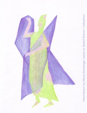 Eurythmy Figure N by Marta Stemberger