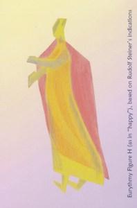 "Eurythmy Figure H (as in ""happy""), based on Rudolf Steiner's indications"