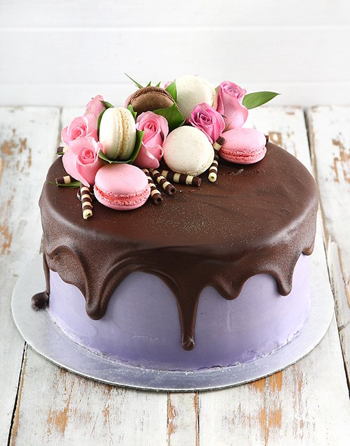 Lilac Macaroon Cake Gift Delivery South Africa