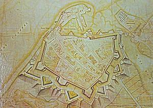 Desmaretz map of Portsmouth 1744