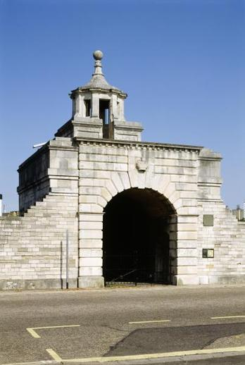 One of two ornamental gates forming part of the city's defences  dated 1760