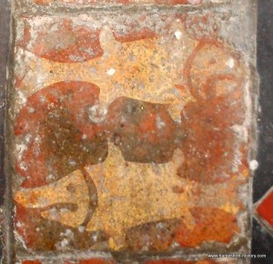 Rare Medieval Fish Tiles, St Leonards Church Hartley Mauditt