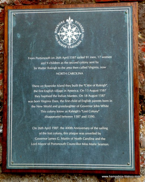 The Roanoke Voyages and Portsmouth 1587