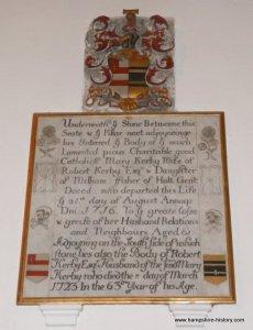 A Hampshire Catholic 1716