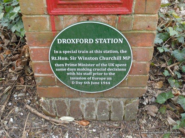 Plaque memorial Droxford