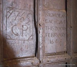 Hinton Ampner church vestry door