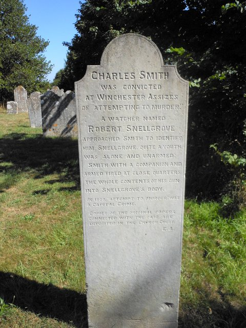 Charles Smith poacher headstone