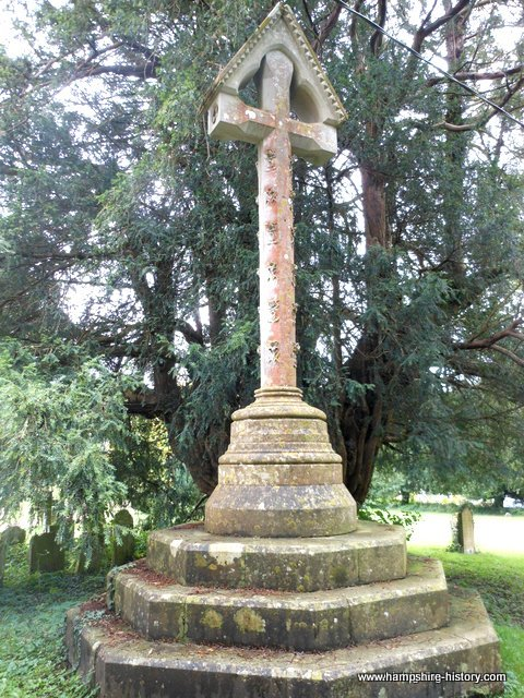 The cross from which the Reverend Gilbert White preached