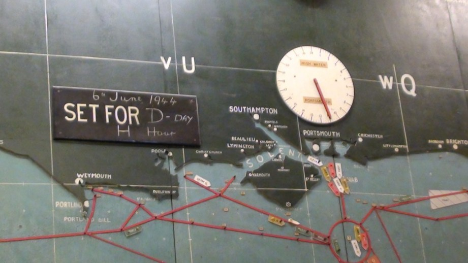 D-DAY Map Hampshire Starting and gathering Points