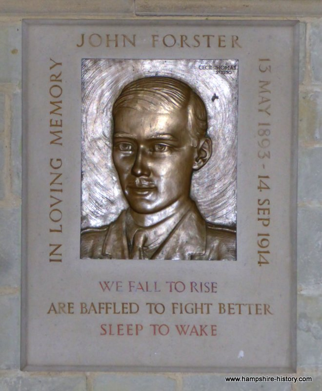 Hampshire history WWI Memorials