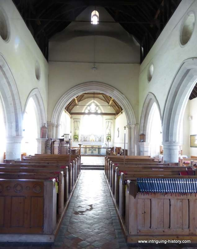 Meonstoke church 13th century interior