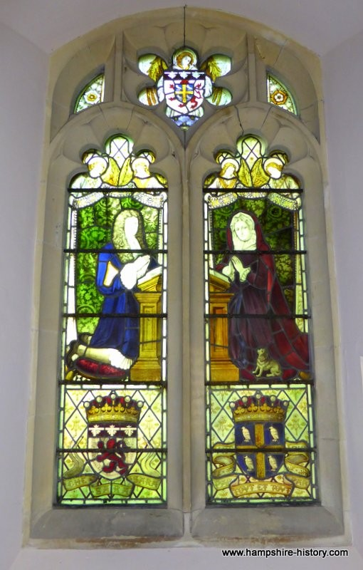 East Stratton church stained glass