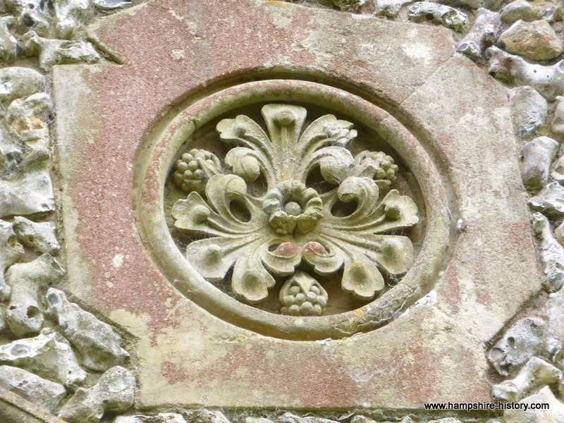 Detail from Privett church