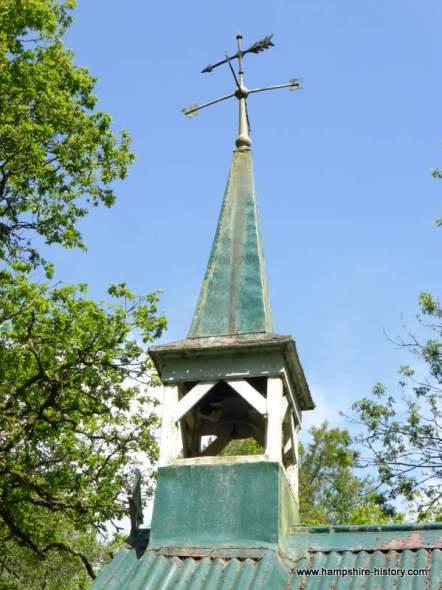 Bramdean church in the woods