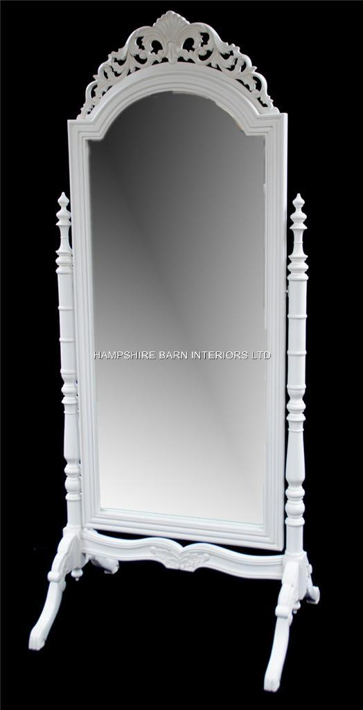 A French Chateau Style Ornate Cheval Dressing Long Mirror