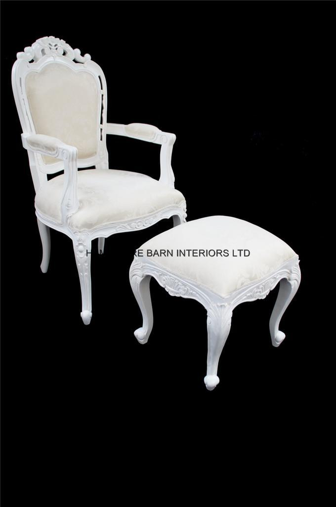 Chateau French Style Ornate White Chair Dining Desk