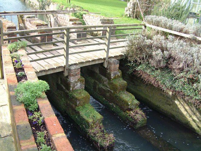 Wooden bridge before