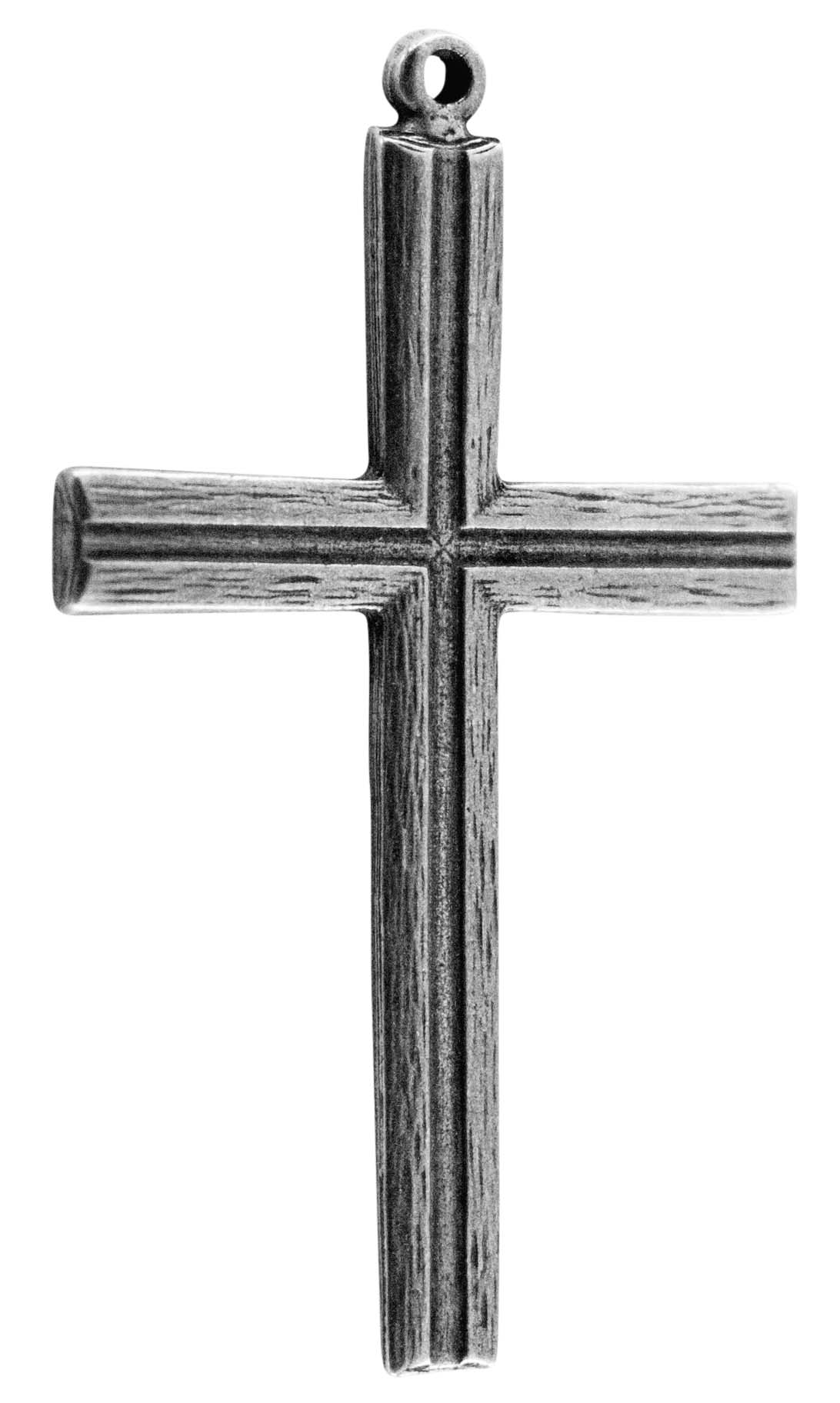 Latin Cross Silver Pewter New Hampshire