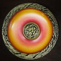 'Golden Fire' sycamore platter