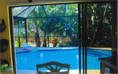 Dining Room, Pool behind