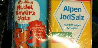 """Bad Reichenhaller AlpenJodSalz und """"Die Maus"""" NudelGewürzSalz"""