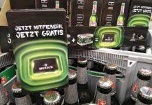 Becks Bier Flaschenhalter
