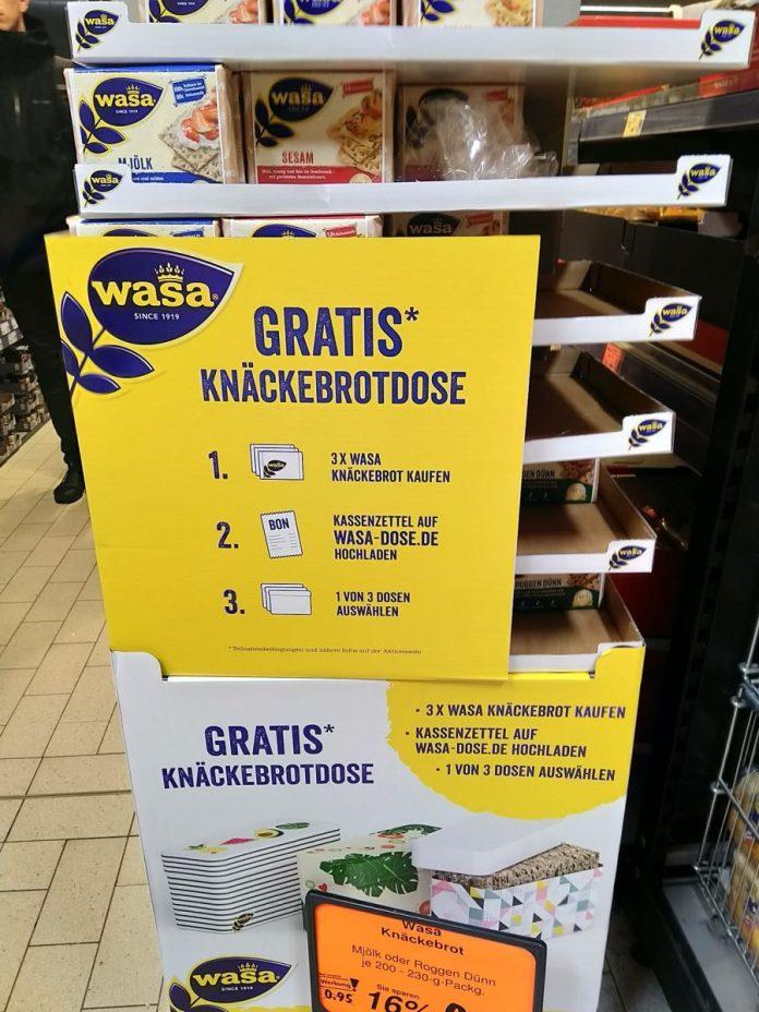 Wasa-Knäckebrotdose