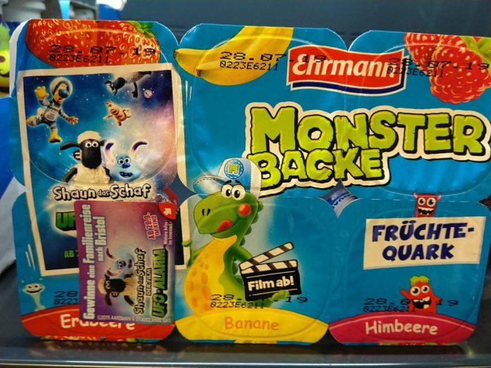 Ehrmann Monster Backe Shaun das Schaf