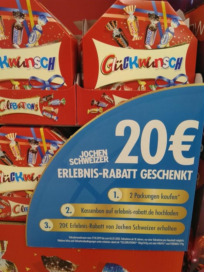 Celebrations M&Ms Jochen Schweizer Rabatt Gutschein Code