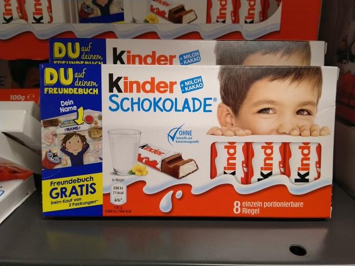 Kinderschokolade: Freundebuch gratis
