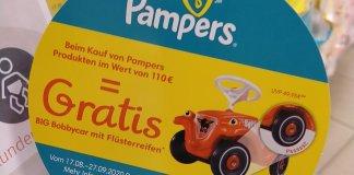 Pampers bei Rossmann - Big Bobbycar gratis