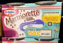 Dr. Oetker Marmorette: Butlers-Gutscheine gewinnen