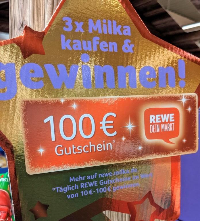 Milka: Rewe-Gutschein 10-100 Euro gewinnen