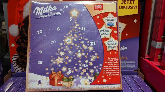 Rewe Milka Adventskalender 2020 - Einkaufsgutscheine gewinnen